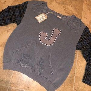 LF Vintage Furst Of A Kind Varsity Flannel Top OS